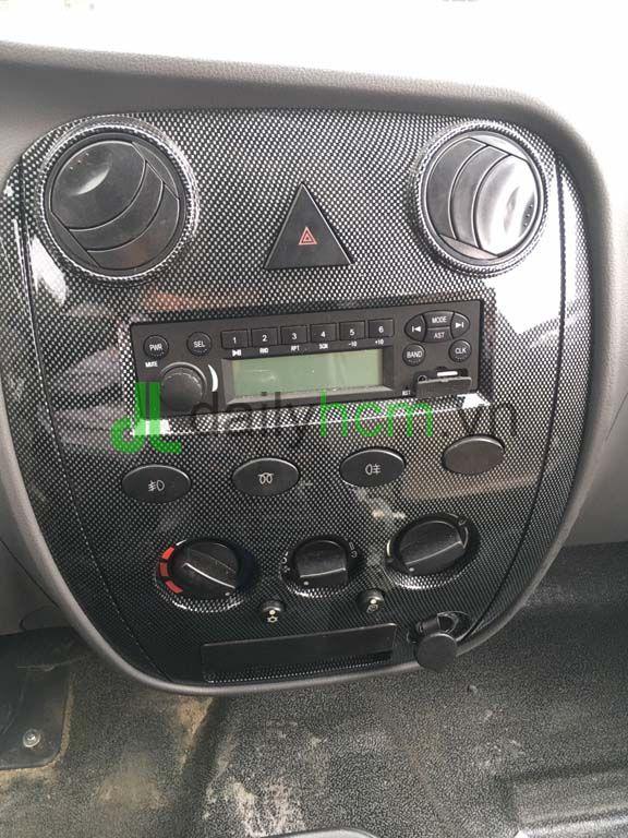 Nội thất Radio, quạt gió xe ben TMT 2T4 máy Hyundai