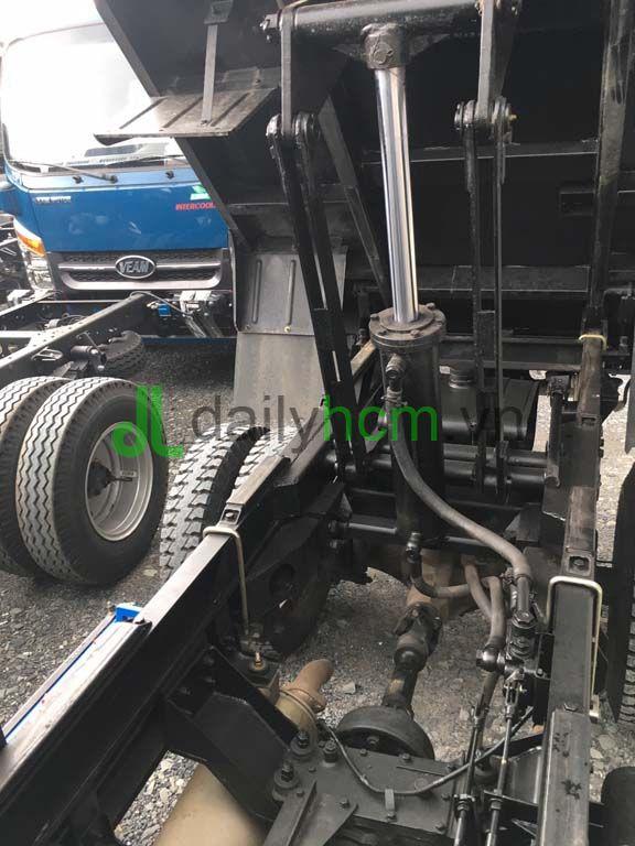 Ti ben, thùng dầu ben, hộp số phụ, bơm ben xe ben TMT 2T4 máy Hyundai