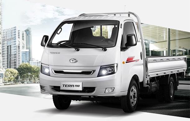 DailySg.vn Xe tải Daehan Tera 190 Teraco 1,9 tấn thùng lửng màu trắng