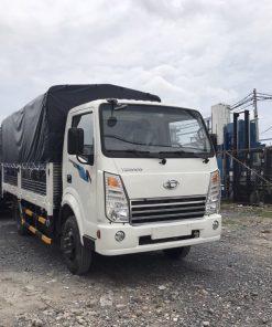 DailySG.vn Xe tải Daehan Teraco Tera 230 2,4 tấn vào thành phố động cơ Hyundai thùng mui bạt