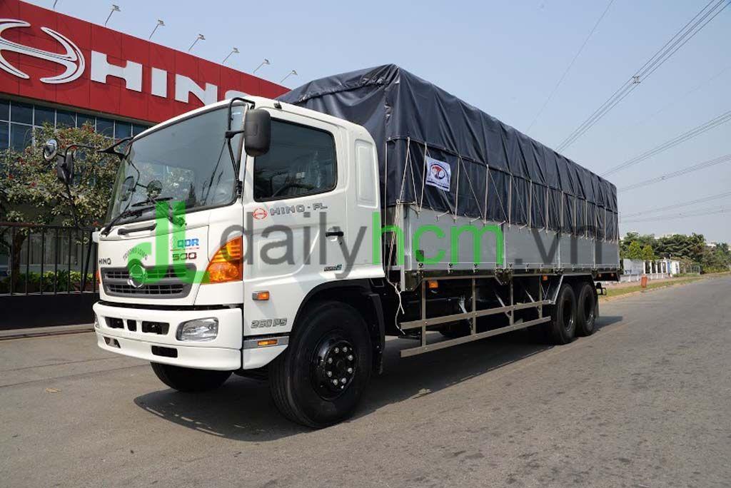 Xe tải HINO FL mui bạt bửng nhôm khung inox