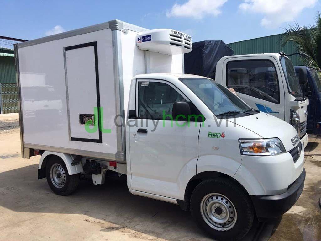 Xe tải SUZUKI CARRY PRO nhập khẩu nguyên chiếc thùng đông lạnh -18 độ C