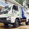 dailysg.vn Xe ben Isuzu QKR55F tải tự đổ 2T4 vào TP