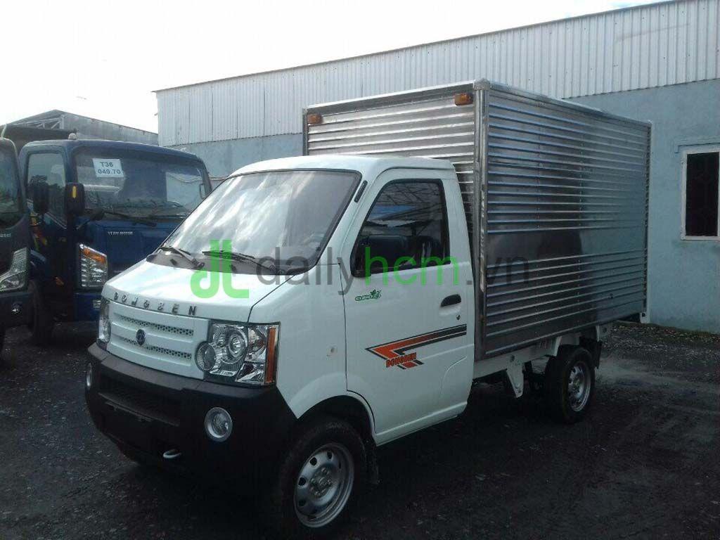 dailysg.vn xe tải nhẹ máy xăng dongben tk thùng kín bảo ôn inox