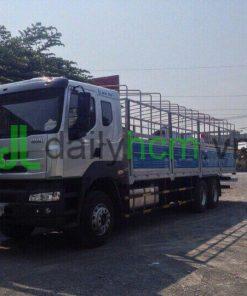 Xe tải Chenglong 4 chân 17T9 thùng mui bạt inox