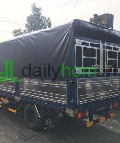 Xe tải Hyundai HD65 thùng mui bạt 5 bửng mở