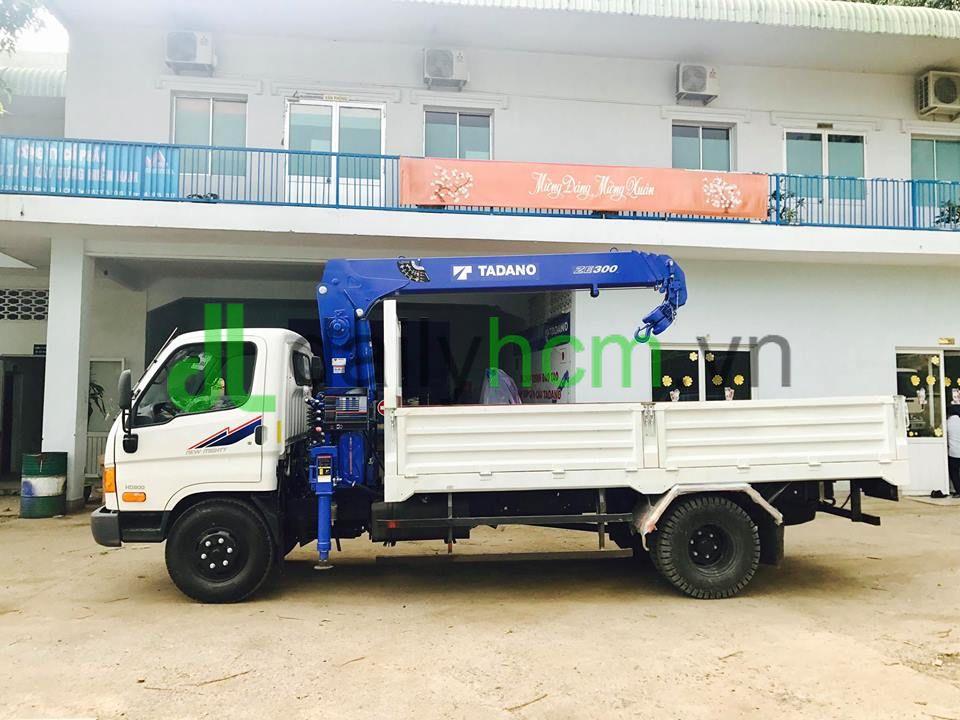 Xe tải Hyundai Veam HD800 gắn cẩu 3 tấn Tadano TM-ZE304MH