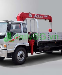 Xe tải Jac 8T gắn cẩu Unic 344 3 tấn 4 khúc