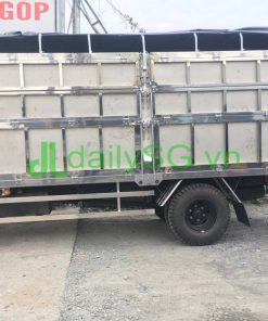 Cạnh thùng xe tải 8 tấn thùng mui bạt Inox chở gạch