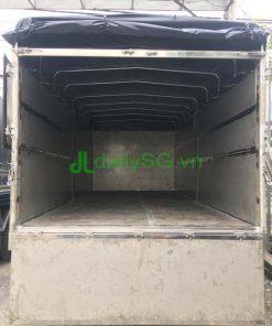 Cửa sau thùng xe tải 8 tấn thùng mui bạt Inox chở gạch