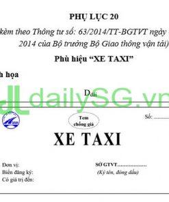 Phù hiệu xe taxi