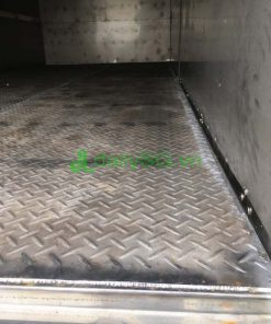 Sàn Inox 430 dập lá me xe tải 8 tấn thùng mui bạt Inox chở gạch