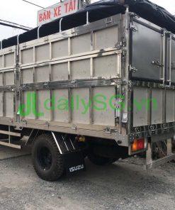 Tổng quát thùng xe tải 8 tấn thùng mui bạt Inox chở gạch
