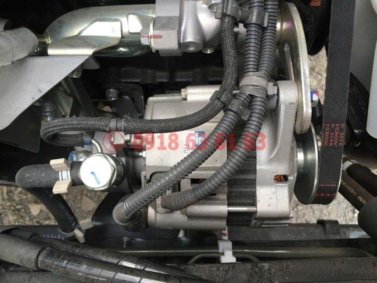 Bộ phận máy phát điện dinamo động cơ xe tải Isuzu Euro 4 4JH1E4NC dung tích 2.999cc 3.0cc
