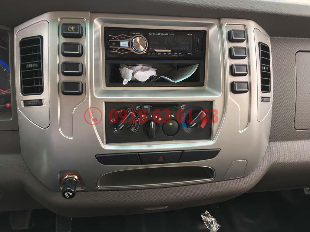 Nội thất radio, máy lạnh Xe tải Teraco Tera 250 động cơ Hyundai