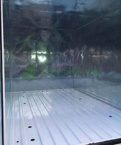 Bên trong thùng Xe tải Suzuki Carry Pro thùng kín Inox 750kg