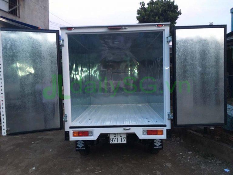 Tổng quát thùng trên Xe tải Suzuki Carry Pro thùng kín Inox 750kg