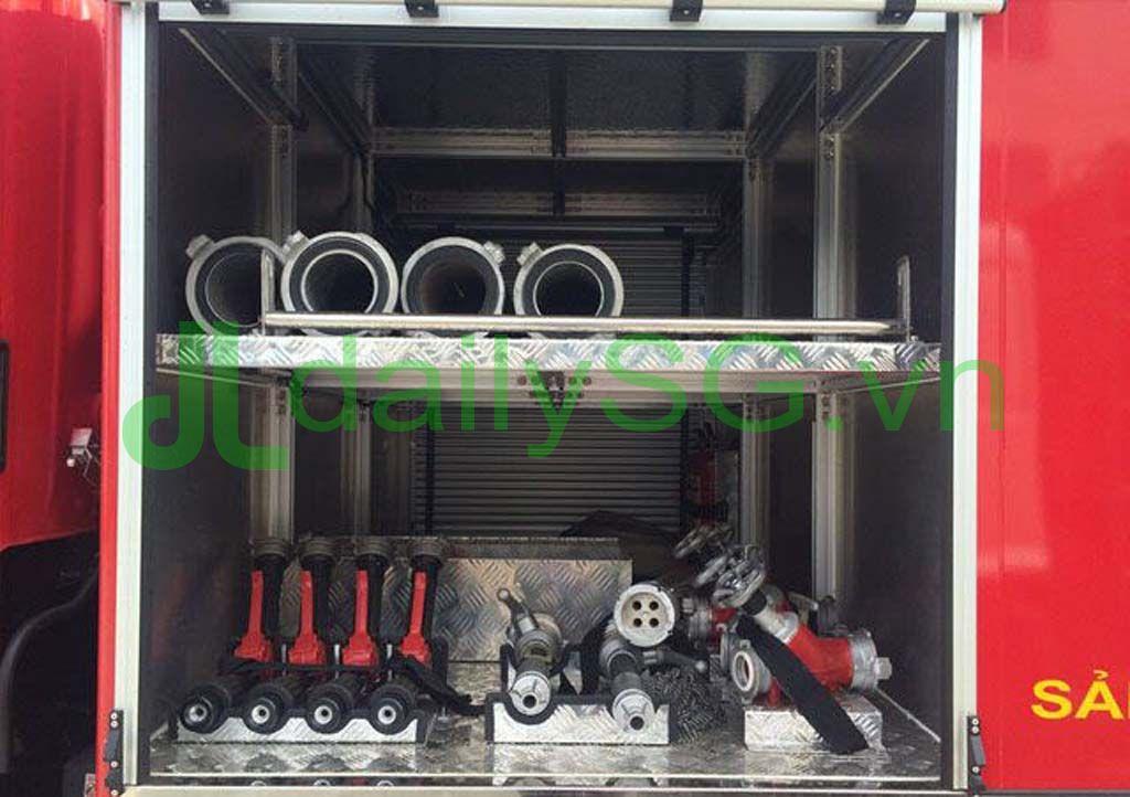 Bộ đầu phun súng phun chữa cháy Xe PCCC chữa cháy Hino FG FGJJSB 6 khối bao gồm 5 khối nước và 1 khối bọt chữa cháy
