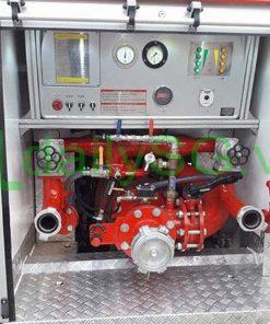 Hệ thống máy bơm pccc áp lực cao Xe PCCC chữa cháy Hino FG FGJJSB 6 khối bao gồm 5 khối nước và 1 khối bọt chữa cháy