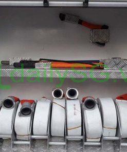 Vòi rồng cuộn pccc trên Xe PCCC chữa cháy Hino FG FGJJSB 6 khối bao gồm 5 khối nước và 1 khối bọt chữa cháy