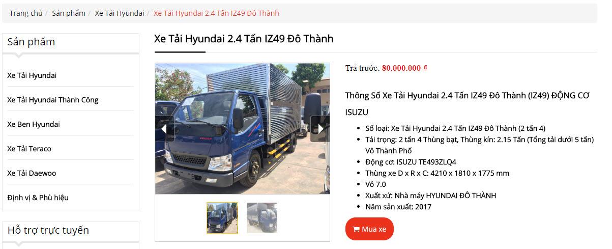 Xe tải Đô Thành IZ49 có phải là xe trung quốc?