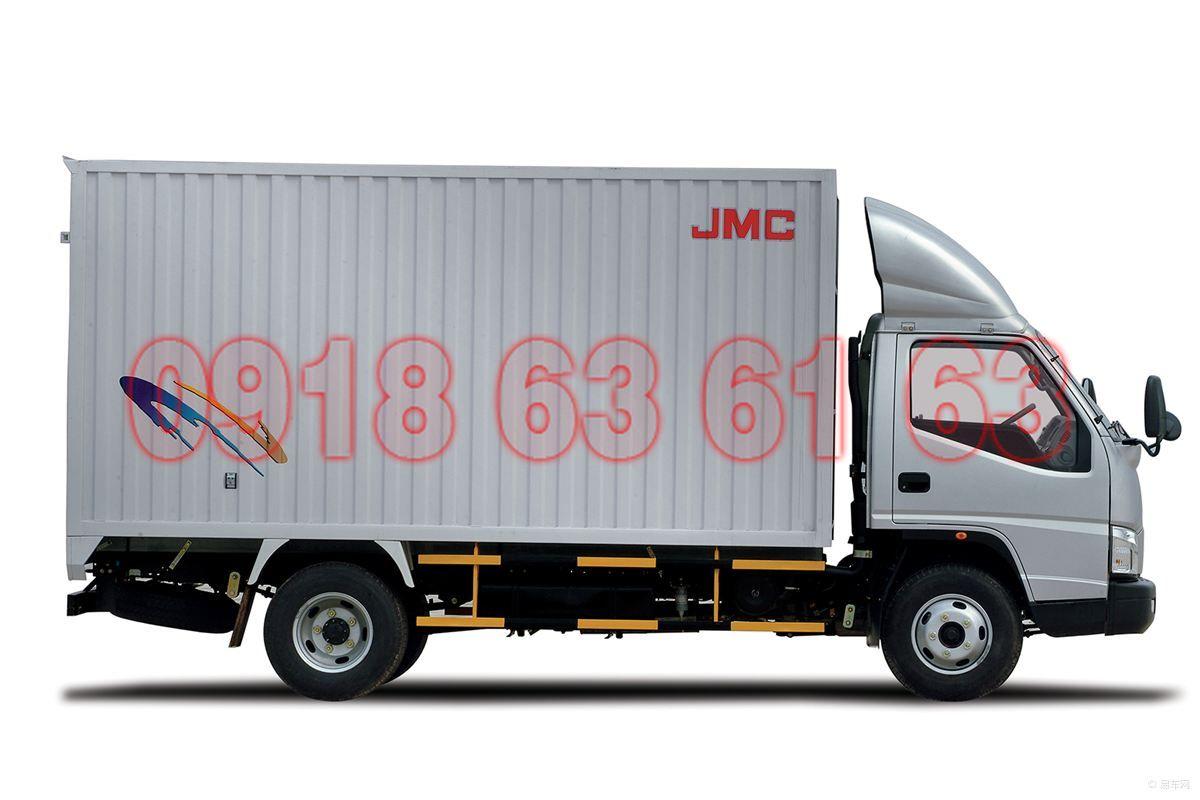 Góc nhìn ngang xe tải JMC động cơ JE493ZLQ4 giống IZ49 như đúc
