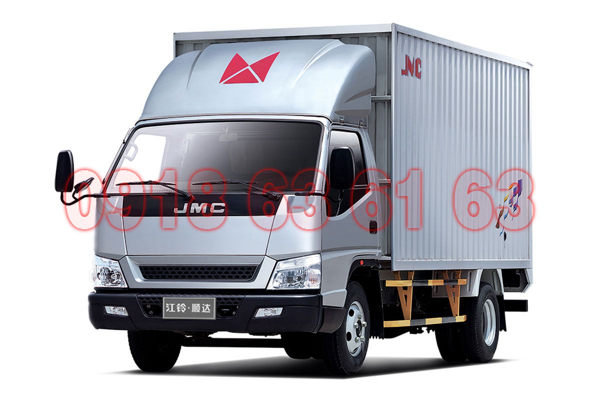 Mặt hông bên tài xe tải JMC động cơ JE493ZLQ4 giống IZ49 như đúc