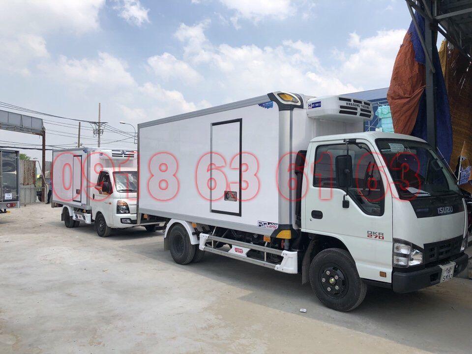 Xe tải Isuzu QKR thùng đông lạnh 1T9 Quyền Auto -18 độ C