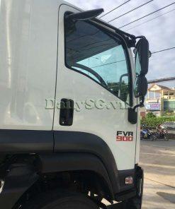 Cửa cabin bên phụ và kính chiếu hậu Xe tải Isuzu 8 tấn FVR Euro 4 FVR 900 thùng dài xe chính hãng Isuzu Vietnam