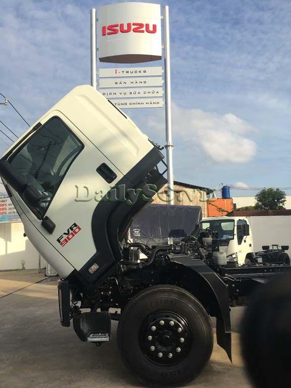 Góc lật cabin lớn Xe tải Isuzu 8 tấn FVR Euro 4 FVR 900 thùng dài xe chính hãng Isuzu Vietnam