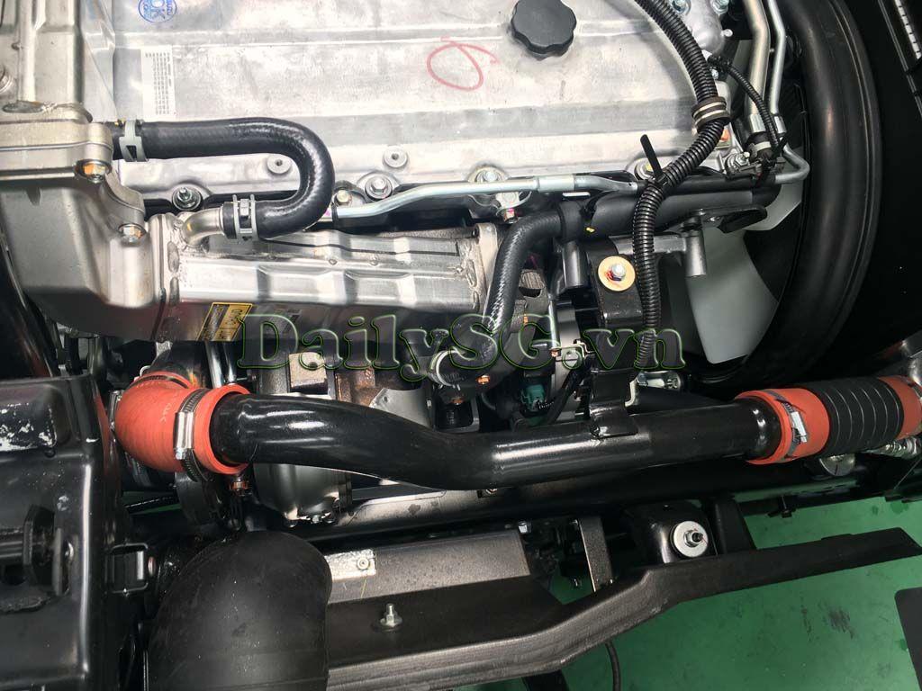 Hệ thống turbo tăng áp và tuần hoàn khí xả Xe tải Isuzu FRR Euro 4 6t2 thùng kín inox nhà máy dài 6m6