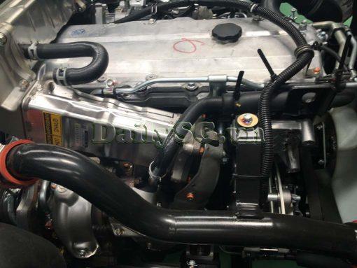 Hệ thống tăng áp turbo trên Xe tải Isuzu FRR Euro 4 6t2 thùng kín inox nhà máy dài 6m6